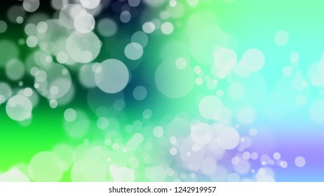 Gradient with bokeh effect, sparkle and Sinbad, Green, Riptide, Blue color. Raster modern blurred background as a work of artistic. Template with changing shades.
