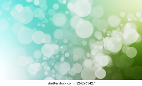 Gradient with bokeh effect, sparkle and Sinbad, Green, Swans Down, Grey color. Beautiful modern blurred background as a artwork. Template with changing shades.