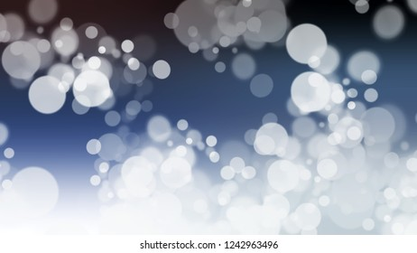 Gradient with bokeh effect, sparkle and Zircon, Grey, Port Gore, Blue color. Beautiful simple blurred backdrop for desktop and mobile phone.