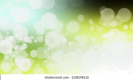 Gradient with bokeh effect and Tara, Green, Reef color. Raster simple defocused backdrop for ads or commercials. Template with changing shades.