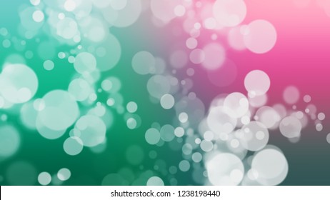Gradient with bokeh effect and Twilight, Violet, Sinbad, Green color. A simple defocused and blurred background with the transition colors for advertising.