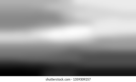 Gradient with Bright Grey, Light Silver color. Ambiguous and foggy blurred background with colorful shades. Template for banner or brochure.
