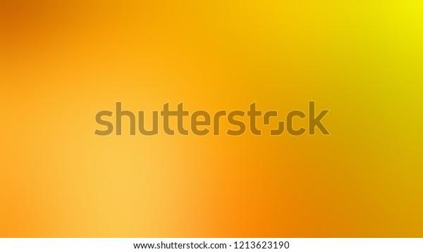 Gradient Bright Sun Yellow Gamboge Color Stock Illustration