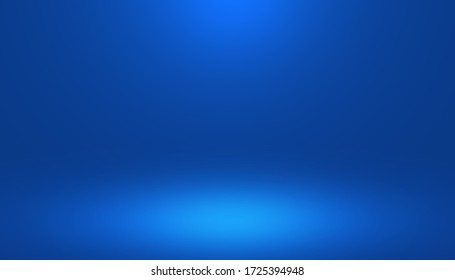 Gradient bstract blue room in the 3d. Light style background.