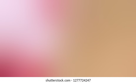 Gradient with Cameo, Brown, Can Pink color. Very simple and modern blurred background with smooth color degradation. Template for journal or book cover.