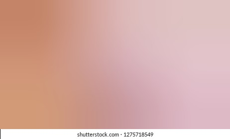 Gradient with Cameo, Brown, Melanie, Violet color. Very simple and modern blurred background with a smooth transition of colors and shades. Screen template for software.