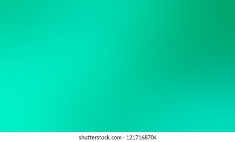 Gradient with Caribbean Green, Jade color. Beautiful and very simple abstract background for web or presentation. Template basis for banner or presentation.