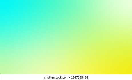 Gradient with Celadon, Green, Paris Daisy, Yellow color. Calm and awesome blurred background with abstract style. Template and wallpaper to the screen of a mobile.