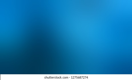 Gradient with Cerulean, Blue color. Calm and awesome blurred background with defocused image. The basis for creating a banner or cover.
