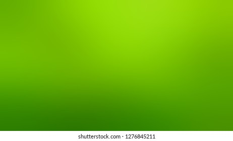 Gradient with Christi, Green, La Palma color. Very simple and modern blurred background with a smooth transition of colors and shades. Template for canvas or card.