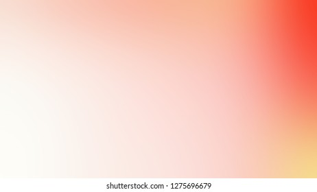 Gradient with Cinderella, Pink, Bittersweet, Orange color. Ambiguous and foggy blurred background without focus. Template for website or page.