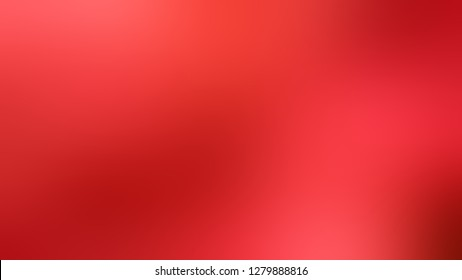 Gradient with Cinnabar, Red, Fire Engine color. Calm and awesome blurred background without focus. Template and wallpaper to the screen of a tablet.