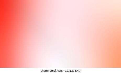 Gradient with Cosmos, Pink, Bittersweet, Orange color. Raster and very simple abstract background for web or presentation. Template basis for banner or presentation.