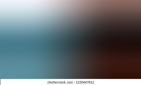 Gradient with Cowboy, Brown, Casper, Blue color. Blank simple modern background with color transition.