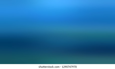 Gradient with Curious Blue, Orient color. Abstract background without focus with shades degradation. Modern and blank template for brochure cover. Volume effect with horizontal stripes.