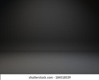 Gradient dark gray background. Background of photo studio