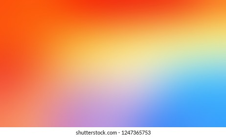 Gradient with Dark Salmon, Pink, Perano, Blue color. Bizarre and bitmap blurred background with smooth change of colors and shades. Template for banner or brochure.