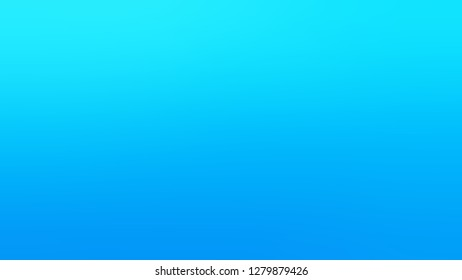 Gradient with Deep Sky Blue, Bright Turquoise color. Bizarre and bitmap blurred background with a smooth transition of colors and shades. Template for web page or site.