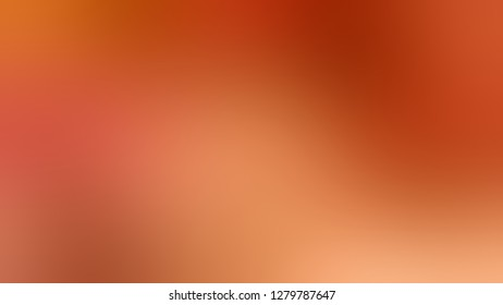 Gradient with Ecstasy, Orange, Rust, Red color. Calm and awesome blank background. Template for banner or document.