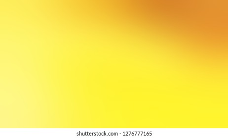 Gradient with Energy Yellow, Gorse color. Beautiful raster blurred background without focus. Template and wallpaper on the desktop screen.
