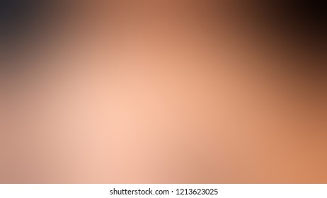Gradient with Feldspar Brown Jambalaya Quicksand color. Modern texture background, degrading fragments, smooth shape transition and changing shade.