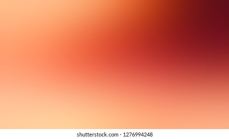 Gradient with Flamingo, Orange, Macaroni And Cheese color. Bizarre and bitmap blurred backdrop with smooth color degradation. Template and wallpaper on the desktop screen.