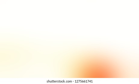 Gradient with Floral White, Macaroni And Cheese, Orange color. Gaussian drawing as a work of art. Blankbackground. Template for web page or site.