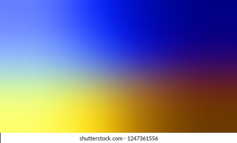 Gradient with Free Speech Blue, Sundance, Brown color. Beautiful raster blurred background without focus. Template for advertising your product.