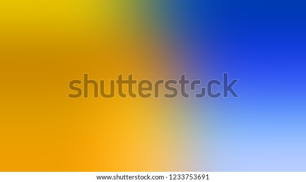 Gradient Gamboge Yellow Cerulean Blue Color Stock