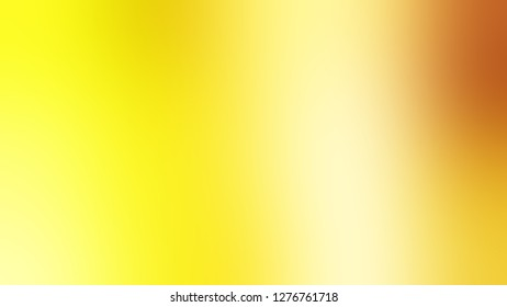 Gradient with Golden Glow, Yellow, Gorse color. Classic and contemporary blurred background with defocused image. Template and wallpaper to the screen of a telephone.