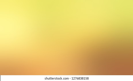 Gradient with Golden Sand, Yellow, Orange color. Ambiguous and foggy blurred background with colorful shades. A blend of shades and tones.