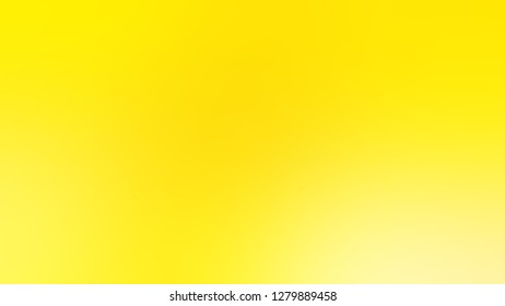 Gradient with Gorse, Yellow color. Bizarre and bitmap blurred background with a smooth transition of colors and shades. Template for banner or brochure.