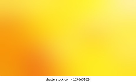Gradient with Gorse, Yellow, Dark Tangerine, Orange color. Bizarre and bitmap background with uniform smooth texture. Template and wallpaper on the desktop screen.