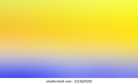 Gradient with Gorse Yellow Paris Daisy Portage Blue color. Modern texture background, degrading fragments, smooth shape transition and changing shade.