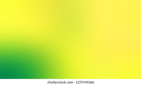 Gradient with Gorse, Yellow, Paris Daisy color. Attractive and mystical blurred background with defocused image. Template for announcement or ad.