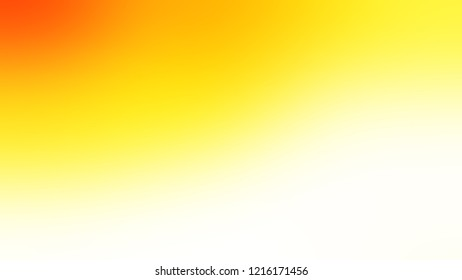 Gradient with Gorse, Yellow, Snow, White color. A simple defocused and blurred backdrop with the transition colors for advertising.