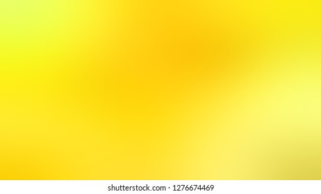 Gradient with Gorse, Yellow, Turbo color. Calm and awesome blurred background with defocused image. Template and wallpaper on the desktop PC or laptop.