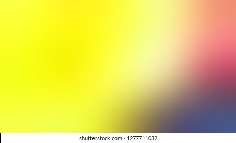 Gradient with Gorse, Yellow, Turkish Rose, Red color. Simplicity and purity. Blurred background with colorful shades. Template and wallpaper to the screen of a telephone.