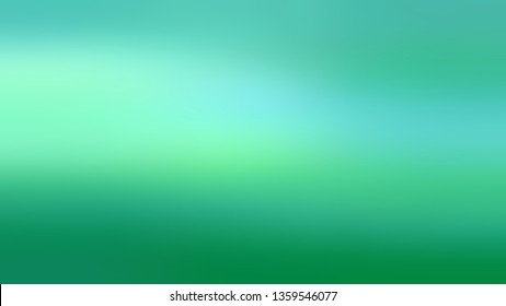 Gradient with Green, Aquamarine, Blue color. Attractive and mystical blurred background with defocused image. Cover for a journal or scrapbook.