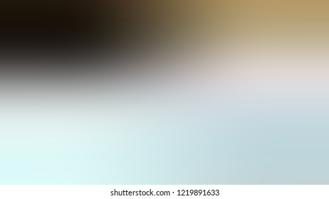 Gradient with Iceberg, Green, Sisal, Brown color. Beautiful simple blurred background with smooth transition of colors for banner.