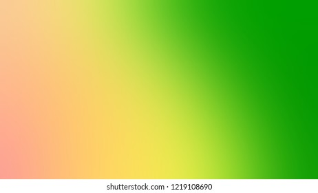 Gradient with Kelly Green, Macaroni And Cheese, Orange color. Classic modern blurred and defocused background for banner or presentation.