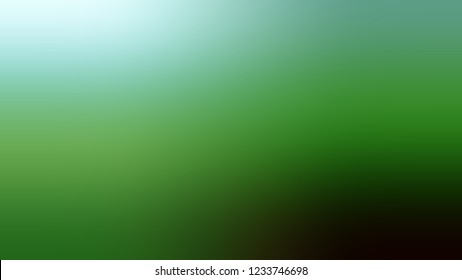 Gradient with La Palma, Green, Sinbad color. Blend and awesome abstract blurred background with smooth color transition. Minimalism.