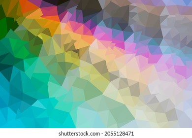 gradient and light background with small triangles