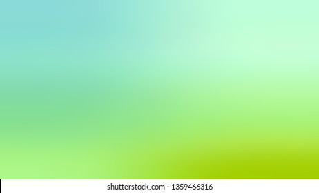 Gradient with Light Green, Turquoise, Pale color. Simplicity and purity. Blurred background with abstract style. Wallpaper to the screen of a smartphone.