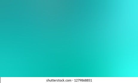 Gradient with Light Sea Green, Turquoise, Blue color. Very simple and modern blurred background with smooth change of colors and shades. Template for magazine or book layout.