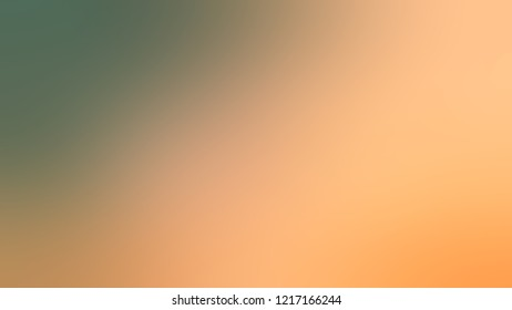 Gradient with Macaroni And Cheese, Orange, Willow Grove, Green color. Simple blurred background with smooth transition of colors for banner.