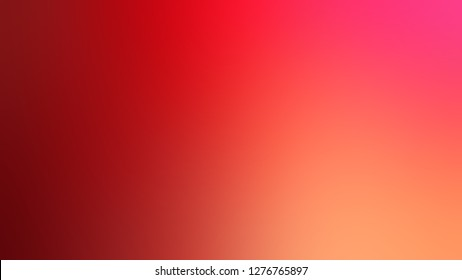 Gradient with Mahogany, Brown, Bittersweet, Orange color. Bizarre and bitmap blurred background with smooth color degradation. Template and wallpaper to the screen of a tablet.