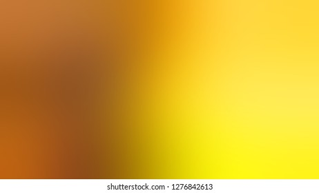 Gradient with Mai Tai, Brown, Gorse, Yellow color. Chaos of color and hue. Blankbackground. Template for banner or brochure.