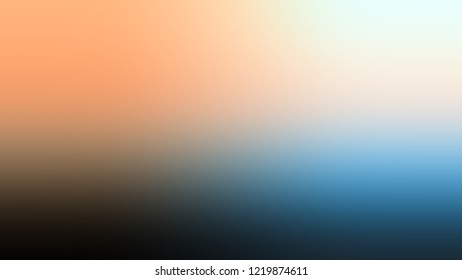Gradient with Malta, Brown, Astral, Blue color. Blank defocused background with smooth color transition for mobile app.