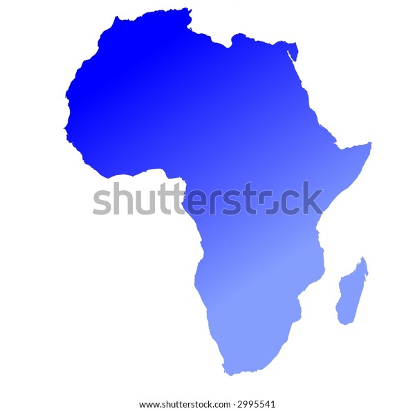 Gradient map of Africa